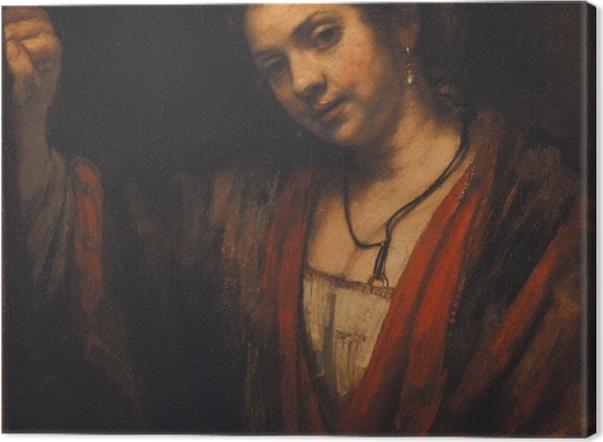 Obraz na płótnie Rembrandt - Portret Hendrickje Stoffels - Reprodukcje
