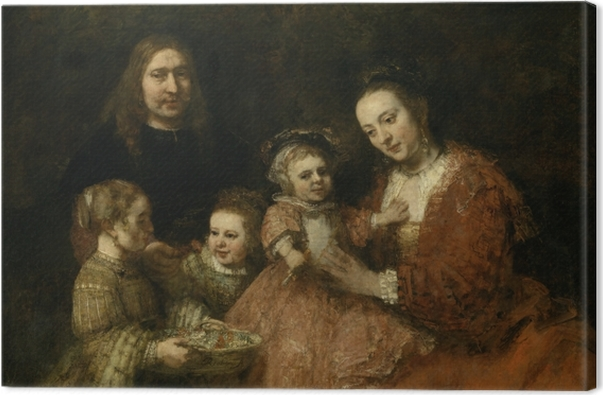 Obraz na płótnie Rembrandt - Portret rodzinny - Reprodukcje