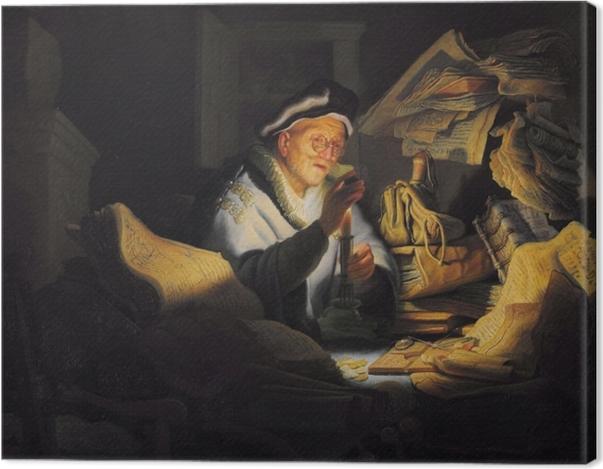 Obraz na płótnie Rembrandt - Przypowieść o bogaczu - Reprodukcje