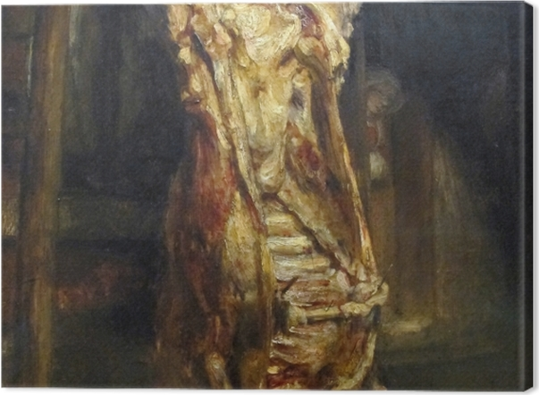 Obraz na płótnie Rembrandt - Rozpłatany wół - Reprodukcje