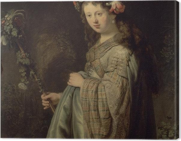 Obraz na płótnie Rembrandt - Saskia jako Flora - Reprodukcje