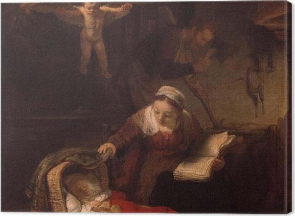 Obraz na płótnie Rembrandt - Święta Rodzina - Reprodukcje