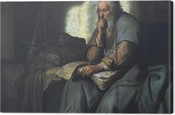 Obraz na płótnie Rembrandt - Święty Paweł w więzieniu - Reprodukcje
