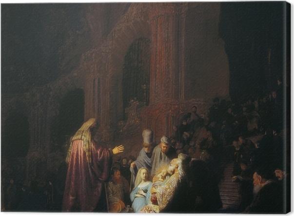Obraz na płótnie Rembrandt - Symeon w świątyni - Reprodukcje