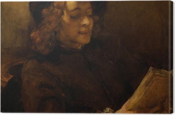 Obraz na płótnie Rembrandt - Titus czytający - Reprodukcje