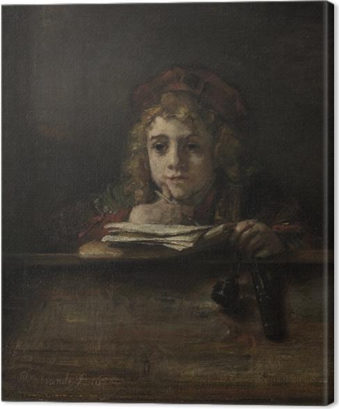 Obraz na płótnie Rembrandt - Tytus za pulpitem - Reprodukcje