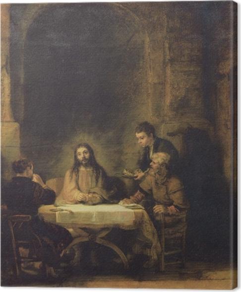 Obraz na płótnie Rembrandt - Wieczerza w Emaus - Reprodukcje