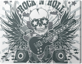 Obraz na płótnie Rock n roll symbol