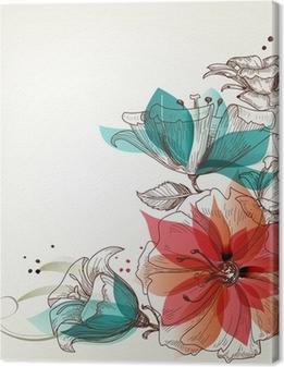Obraz na płótnie Rocznika tle kwiatów