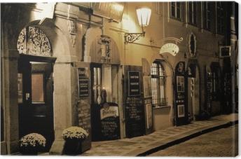 Obraz na płótnie Romantyczna kolacja w Pradze
