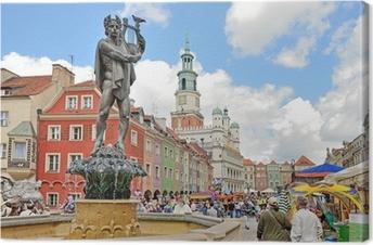 Obraz na płótnie Rynek, Poznań, Polska