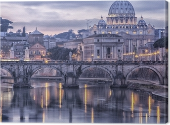 Obraz na płótnie Rzym i Tybru o zmierzchu