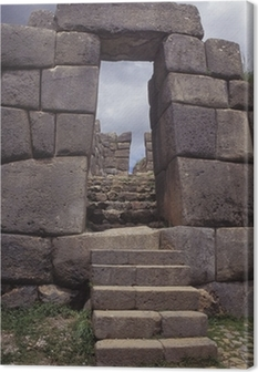 Obraz na płótnie Sacsayhuaman, starożytne mury fortecy Inków w pobliżu Cuzco, Peru.