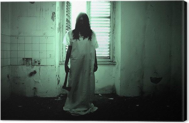 Obraz na płótnie Scena Horror of Straszny Kobieta - Tematy