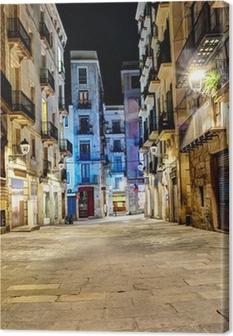 Obraz na płótnie Scena nocy w dzielnicy gotyckiej, Barcelona, Hiszpania