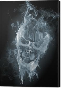 Obraz na płótnie Skull - smoke