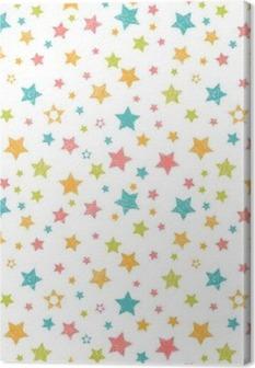Obraz na płótnie Słodkie szwu z gwiazdami. Stylowa grafika ręcznie rysowane