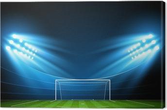 Obraz na płótnie Stadion piłkarski. Wektor