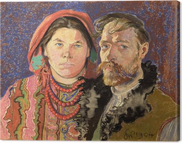 Obraz na płótnie Stanisław Wyspiański - Portret artysty z żoną - Reproductions
