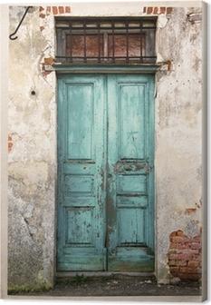 Obraz na płótnie Stare fotografie archiwalne drzwi