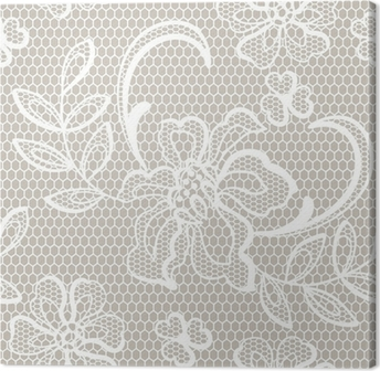 b12523948fea7c Obraz na płótnie Stare koronki tło, ozdobne kwiaty. wektora tekstury.