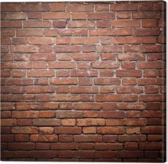 Obraz na płótnie Stary grunge tekstury ściany z czerwonej cegły