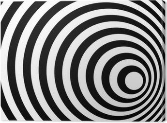 Obraz na płótnie Streszczenie Pierścionek Spirala czarno-biały obraz w tle.