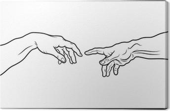 Obraz na płótnie Stworzenie Adama. Fragment (zarys Vesion)