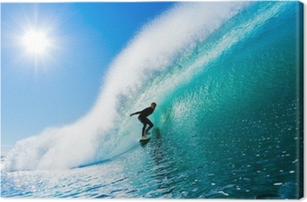 Obraz na płótnie Surfer na fali Błękitny ocean