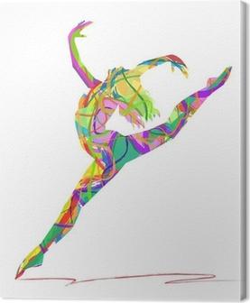 Obraz na płótnie Sylwetka tancerza składa się z kolorów