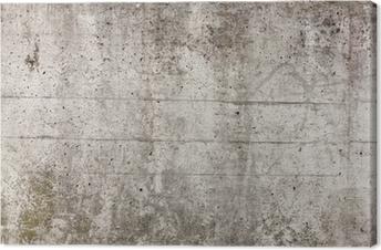 Obraz na płótnie Szary betonowy mur na tle