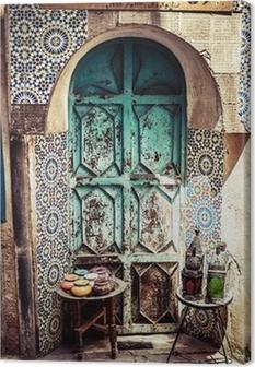 Obraz na płótnie Szczegóły pięknej dekoracji mozaika płytki, Fez, Maroko