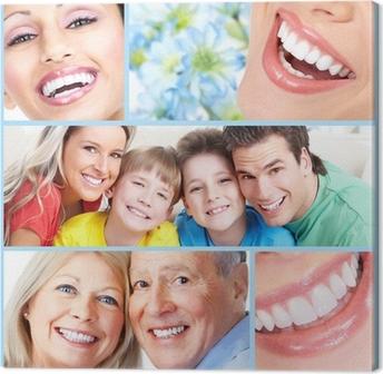 Obraz na płótnie Szczęśliwy uśmiech ludzi.