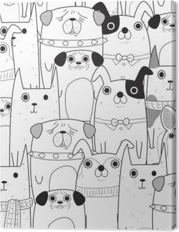 Obraz na płótnie Szwu Dogs