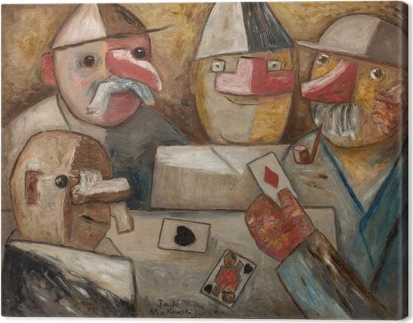 Obraz na płótnie Tadeusz Makowski - Gra w karty - Reproductions