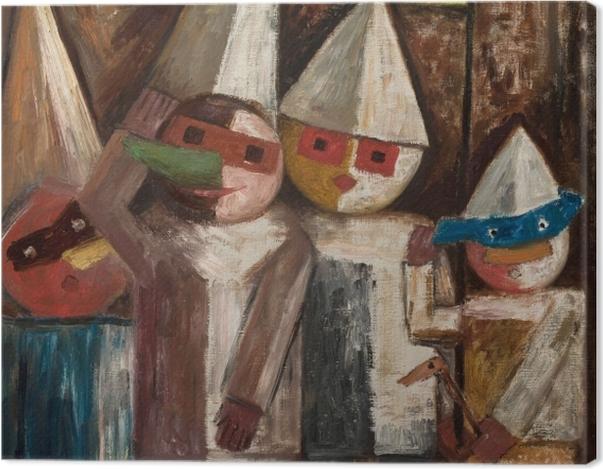 Obraz na płótnie Tadeusz Makowski - Karnawał dzieci z chorągiewką - Reproductions