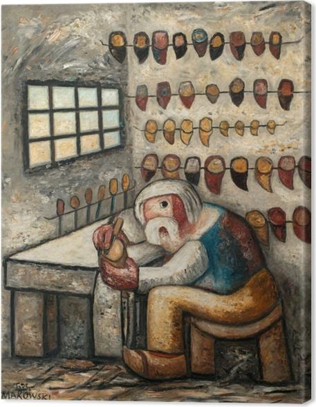 Obraz na płótnie Tadeusz Makowski - Szewc - Reproductions