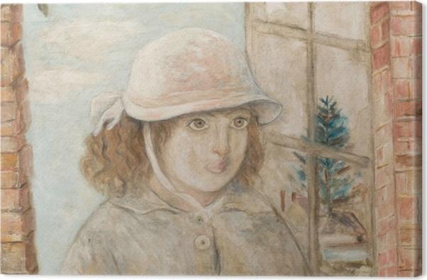 Obraz na płótnie Tadeusz Makowski - Ukwiecone okno - Reproductions