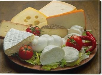 Obraz na płótnie Tagliere mieszane sery