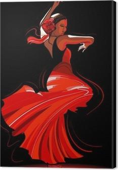 Obraz na płótnie Tancerka flamenco