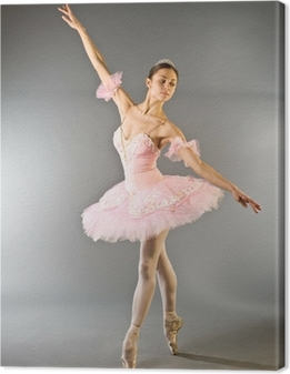 Obraz na płótnie Taniec baleriny na palec wyizolowanych