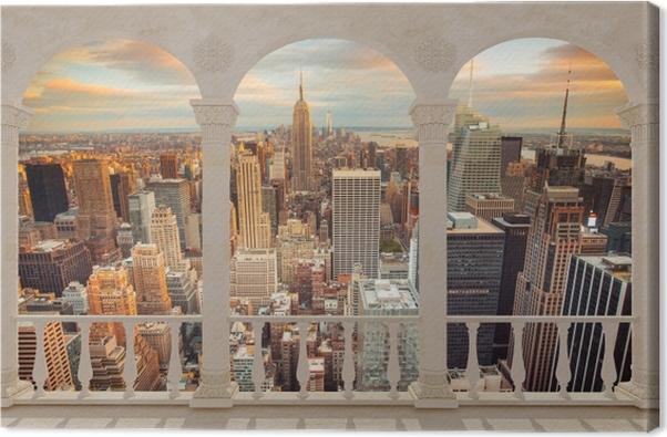 Obraz na płótnie Taras - Widok na zachód słońca w Nowym Jorku - Tarasy