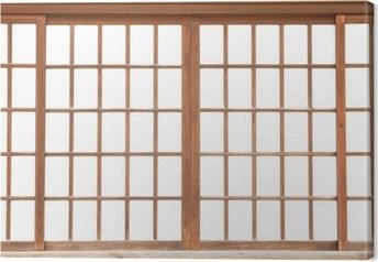 Obraz na płótnie Tekstura papieru drzwi przesuwnych japońskiego Shoji