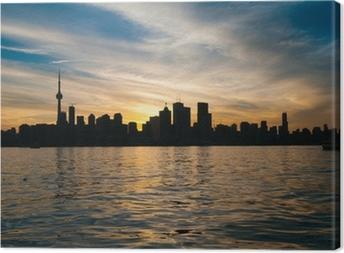 Obraz na płótnie Toronto skyline miasta o zachodzie słońca