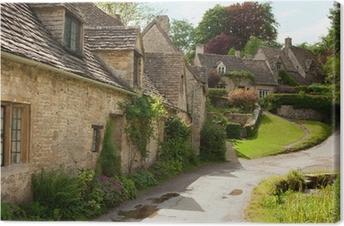 Obraz na płótnie Tradycyjne domki Cotswold w Anglii. Bibury, UK.