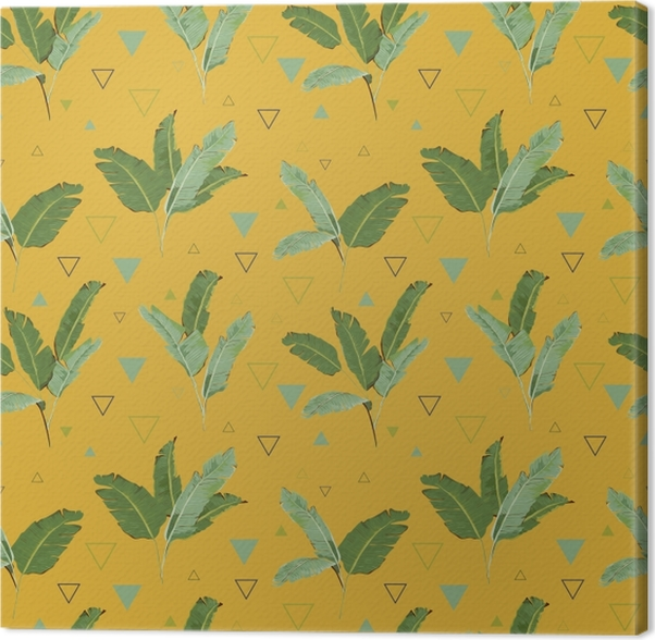 Obraz na płótnie Tropikalne liście palmowe - Pineapple Fever