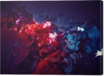 Obraz na płótnie Tusz w wodzie. abstrakcyjne tło