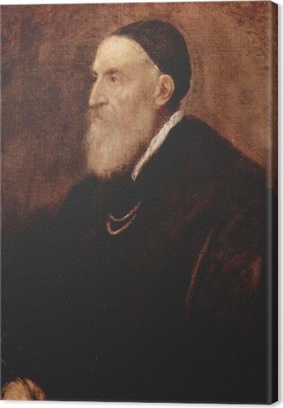 Obraz na płótnie Tycjan - Autoportret - Reprodukcje