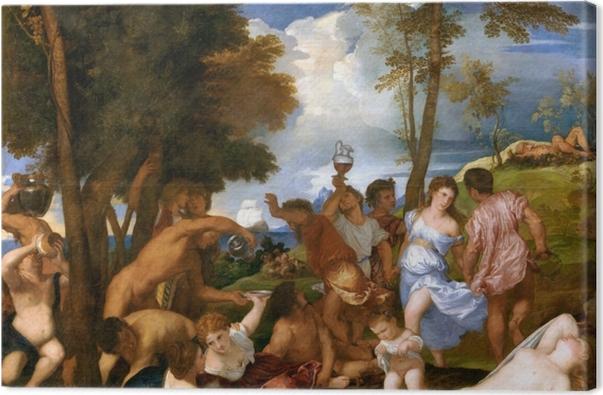 Obraz na płótnie Tycjan - Bachanalia - Reprodukcje