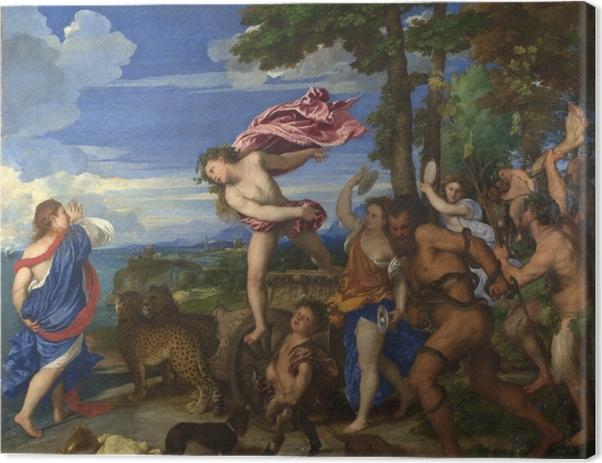 Obraz na płótnie Tycjan - Bachus i Ariadna - Reprodukcje